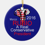 Marco RUBIO 2016 Double-Sided Ceramic Round Christmas Ornament