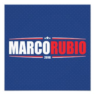Marco Rubio 2016 (estrellas y rayas - azul) Arte Fotografico
