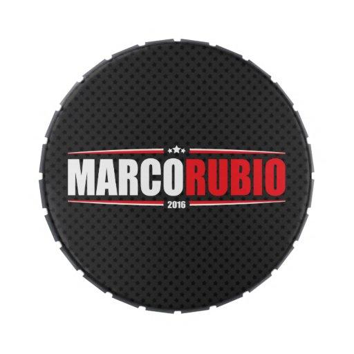 Marco Rubio 2016 (estrellas y rayas - negro) Frascos De Caramelos