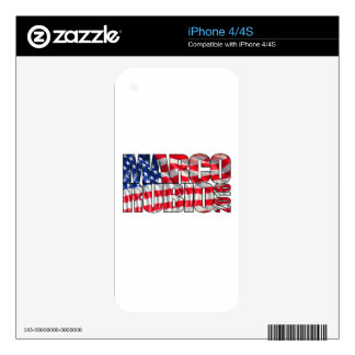 Marco Rubio 2016 (flag) Skin For The iPhone 4S