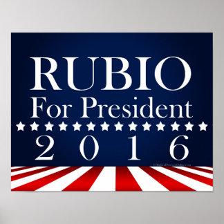 Marco Rubio 2016 para el presidente campaña Póster