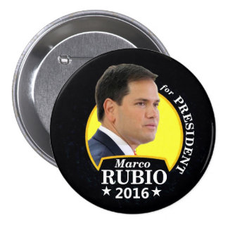Marco Rubio 2016 para el presidente Pin Redondo De 3 Pulgadas