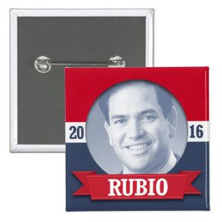 Marco Rubio 2016 Pin Cuadrado