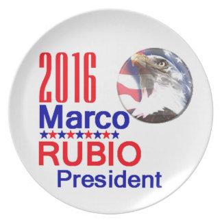 Marco RUBIO 2016 Platos De Comidas