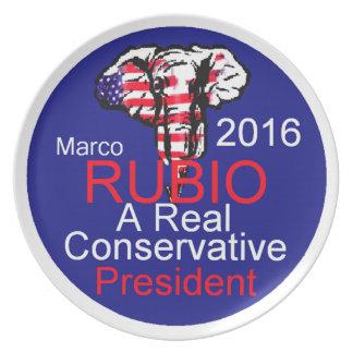 Marco RUBIO 2016 Platos Para Fiestas