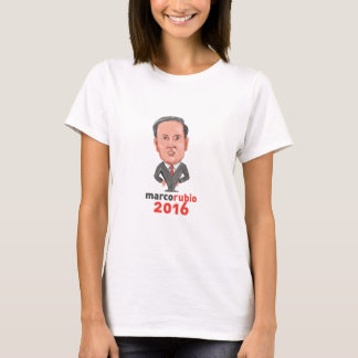 Marco Rubio 2016 President Caricature T-Shirt