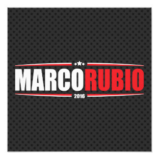 Marco Rubio 2016 (Stars & Stripes - Black) Photo Print