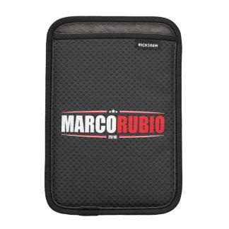 Marco Rubio 2016 (Stars & Stripes - Black) Sleeve For iPad Mini