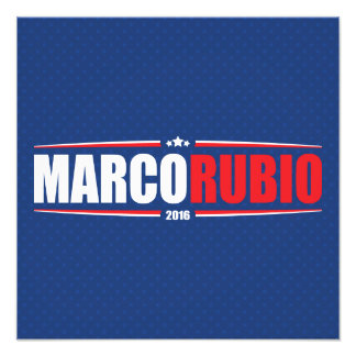 Marco Rubio 2016 (Stars & Stripes - Blue) Art Photo