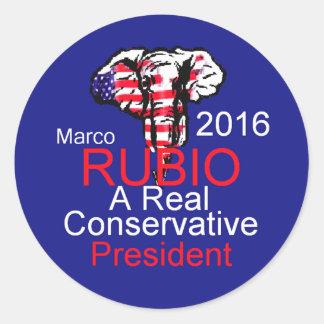 Marco RUBIO 2016 Round Stickers