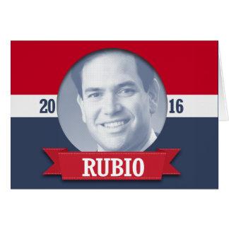 Marco Rubio 2016 Tarjeta De Felicitación