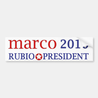 Marco Rubio Car Bumper Sticker
