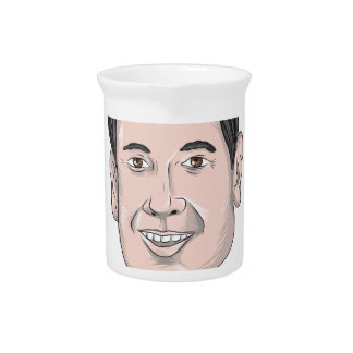 Marco Rubio Caricature Beverage Pitcher