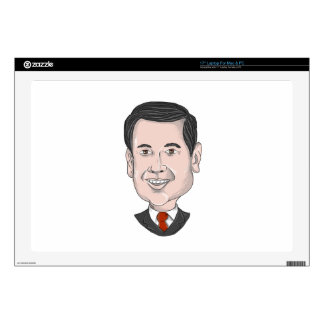 Marco Rubio Caricature Decals For Laptops