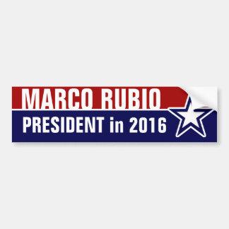Marco Rubio en 2016 Pegatina Para Auto