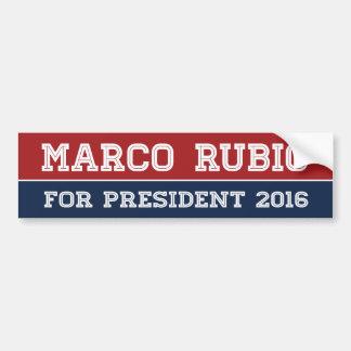 Marco Rubio For President 2016 Line Bumper -.png Bumper Sticker