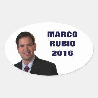 Marco Rubio For President 2016 Oval Sticker
