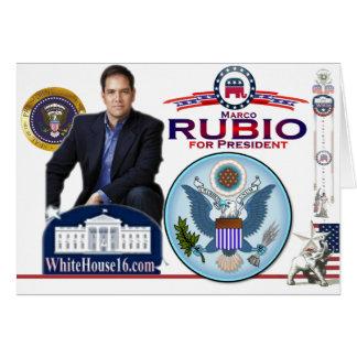 Marco Rubio for President Card