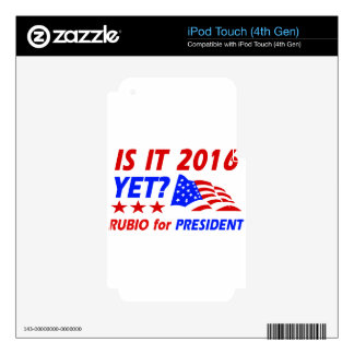 Marco Rubio for President designs iPod Touch 4G Decal