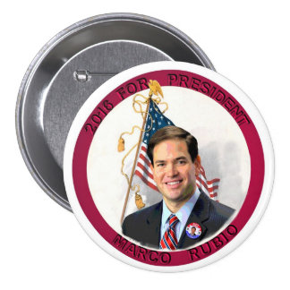 Marco Rubio for President in 2016 3 Inch Round Button