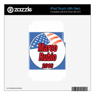 Marco Rubio for president in 2016 iPod Touch 4G Decal