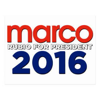 Marco Rubio for President Postcard