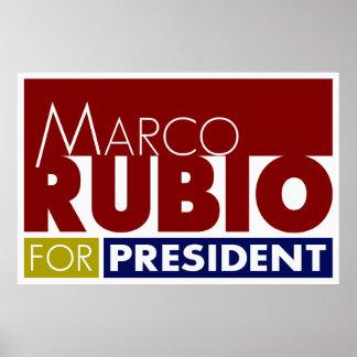 Marco Rubio for President Poster V1