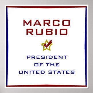 Marco Rubio for President USA Poster