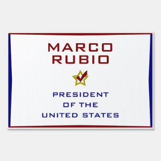 Marco Rubio for President USA Yard Lawn Sign