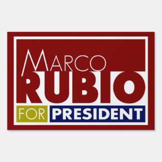 Marco Rubio for President V1 Yard Lawn Sign