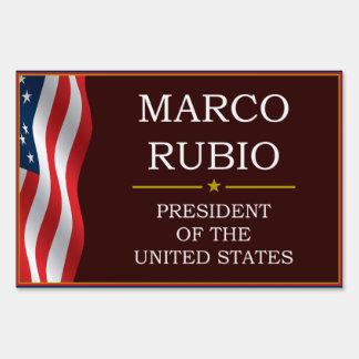 Marco Rubio for President V3 Lawn Sign