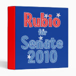 Marco Rubio for Senate 2010 Star Design 3 Ring Binder
