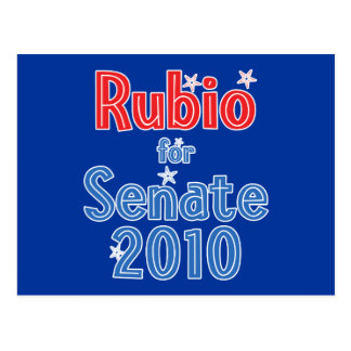 Marco Rubio for Senate 2010 Star Design Postcard