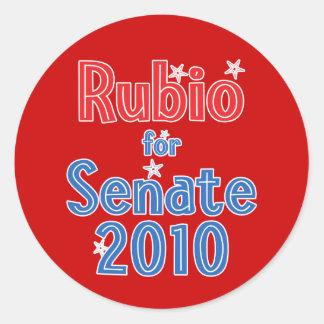 Marco Rubio for Senate 2010 Star Design Stickers