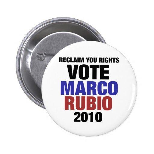 Marco Rubio for senate 2 Inch Round Button