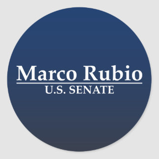 Marco Rubio for U.S. Senate Classic Round Sticker