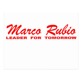 Marco Rubio: Leader for Tomorrow Postcard