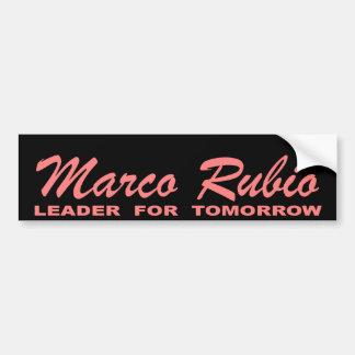 Marco Rubio: Líder para la mañana (rosa y negro) Pegatina Para Auto