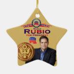 Marco Rubio: Ornamento de levantamiento de la estr Ornamento Para Arbol De Navidad