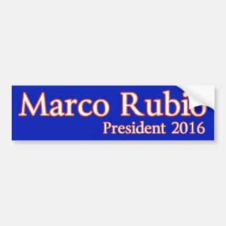 Marco Rubio para el presidente 2016 Pegatina De Parachoque