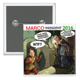 Marco Rubio para el presidente 2016 Pin