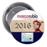 Marco Rubio para el presidente 2016 Chapa Redonda 7 Cm