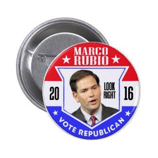 Marco Rubio para el presidente 2016 Pin Redondo 5 Cm
