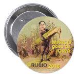 Marco Rubio para el presidente 2016 Pin Redondo De 3 Pulgadas