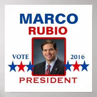 Marco Rubio para el presidente 2016 Póster