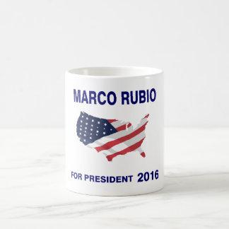 Marco Rubio para el presidente 2016 Taza Básica Blanca