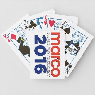 Marco Rubio para el presidente Baraja Cartas De Poker