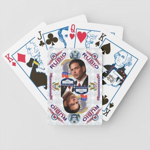 Marco Rubio para el presidente naipes Baraja De Cartas