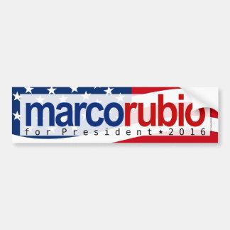 Marco Rubio para el presidente pegatina para el Pegatina Para Auto