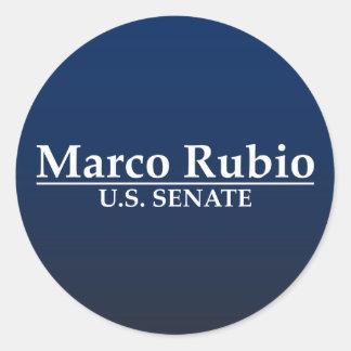 Marco Rubio para el senado de los E.E.U.U. Pegatina Redonda